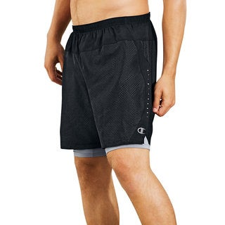 Champion Men's Cool CTRL Run Shorts with Compression Liner