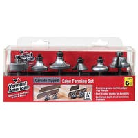 Vermont American 23016 6-piece Set Carbide Edge Form Router Bit