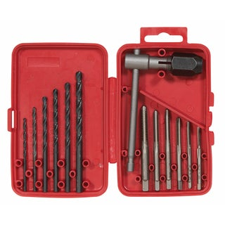 Vermont American 21698 High Carbon Steel Tap and Drill Bit Set 13-piece