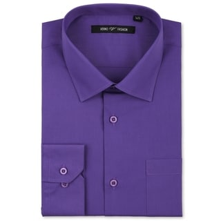 Verno Men's Lilac Classic Fashion Fit Dress Shirt