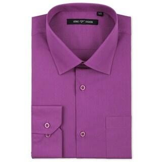 Luxton Men's Grape Classic Fashion Fit Dress Shirt