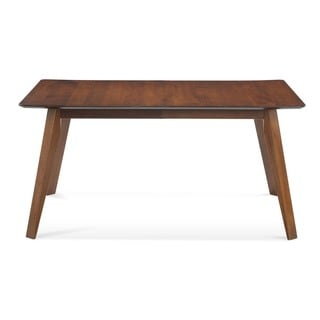 Saloom Spectra 42 x 80 Rectangular Maple Smooth Top Dining Table in Chestnut Finish