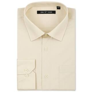 Verno Men's Taupe Classic Fashion Fit Dress Shirt|https://ak1.ostkcdn.com/images/products/11528337/P18476189.jpg?impolicy=medium