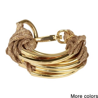 Saachi Metallic Multi Cord with Tube Beads Bracelet (China)