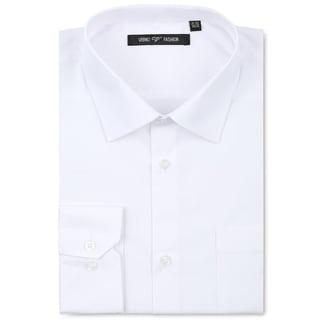 Verno Men's White Fashion Fit Dress Shirt