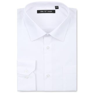 Verno Luxton Men's White Fashion Fit Dress Shirt