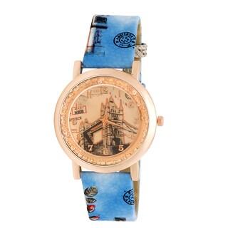 JWI Women's Tower Bridge Faux Leather Watch