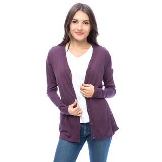 Dolores Piscotta Vee Cardigan Sweater|https://ak1.ostkcdn.com/images/products/11528467/P18476265.jpg?impolicy=medium