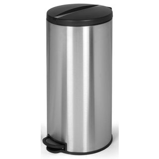 Joyware 30 Liter Round Shaped Stainless Steel Trash Can