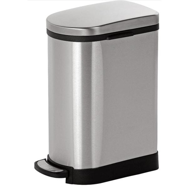 Shop Joyware 10 Liter Slim Shaped Stainless Steel Trash