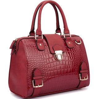 Dasein Structured Satchel with Zip Top Closure