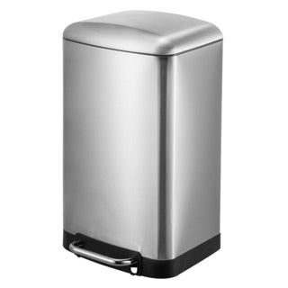Joyware 12 Liter Rectangle Shaped Stainless Steel Trash Can