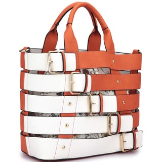 Dasein Medium Tote with Buckle Details