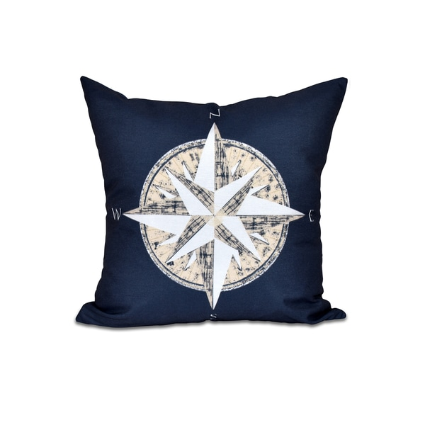 Compass Geometric Print 18-inch Throw Pillow