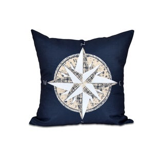 Compass Geometric Print 20-inch Throw Pillow