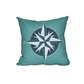 Compass Geometric Print 16-inch Throw Pillow