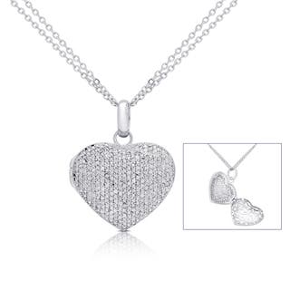 Finesque Silver Overlay 1ct TDW Pave Diamond Heart Locket Necklace https://ak1.ostkcdn.com/images/products/11528656/P18476408.jpg?impolicy=medium