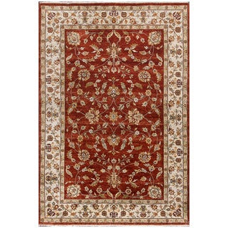 ABC Accent Hand-knotted Ziegler Rust Beige Vegetable Dyes Wool Rug (8' x 8')