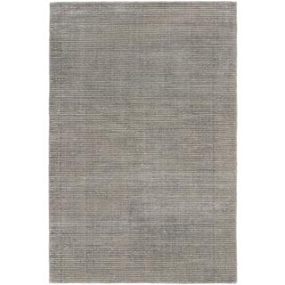 ecarpetgallery Hand-knotted Shimmer Grey Wool and Art Silk Rug (4' x 6')