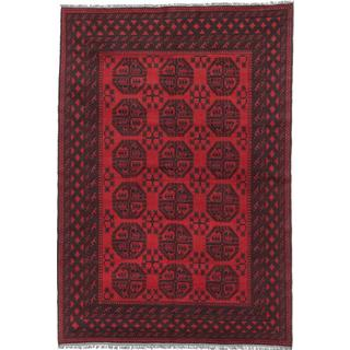 ecarpetgallery Hand-knotted Khal Mohammadi Red Wool Rug (6'8 x 9'8)