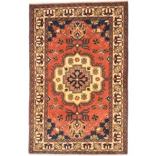 ecarpetgallery Hand-knotted Finest Kargahi Brown Wool Rug (3'5 x 5'3)