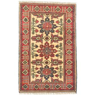 "ECARPETGALLERY Finest Kargahi Red, Yellow Wool Rug (2'7 x 4') - 2'7""x4'0"""