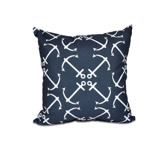 Anchor's Up Geometric Print 20-inch Throw Pillow