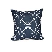 Anchor's Up Geometric Print 16-inch Throw Pillow