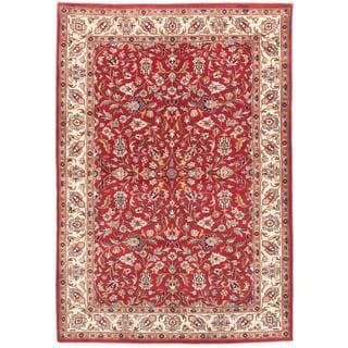 ecarpetgallery Hand-knotted Royal Mahal Red Wool Rug (4'2 x 5'11)