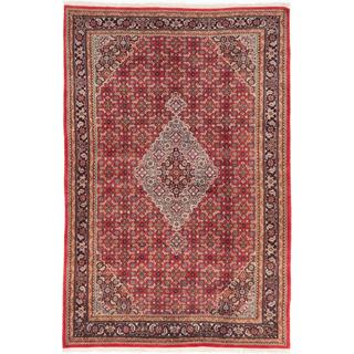 ecarpetgallery Hand-knotted Bijar Red Wool Rug (6'7 x 9'11)