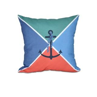 Anchor Flag Geometric Print 20-inch Throw Pillow