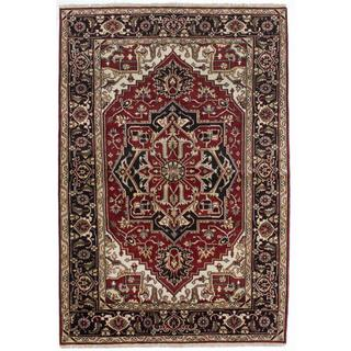 ecarpetgallery Hand-knotted Serapi Heritage Red Wool Rug (5'11 x 8'11)