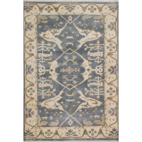 ecarpetgallery Hand-knotted Royal Ushak Grey Wool Rug (4'1 x 6') - 4'1 x 6'
