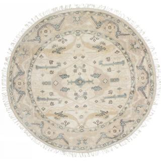 ecarpetgallery Hand-knotted Royal Ushak Beige Wool Rug (5'1 x 5'1)