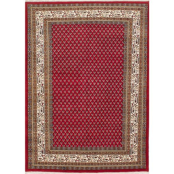 ecarpetgallery Hand-knotted Royal Mahal Red Wool Rug (5'5 x 7'8)
