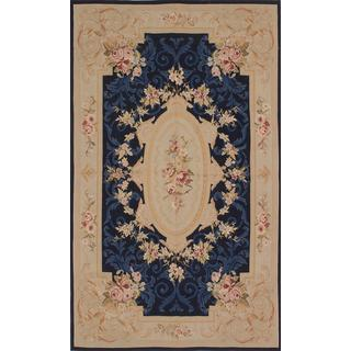 ecarpetgallery Hand-knotted French Tapestry Beige Wool Sumak (4'9 x 8'1)