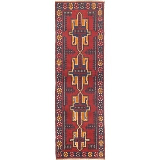 ecarpetgallery Hand-knotted Kazak Orange Wool Rug (2'6 x 9'6)