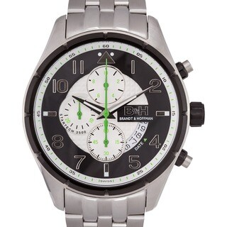 Brandt & Hoffman Sagan Men's Chronograph Watch Multi-textured Dial with Textured Subdials