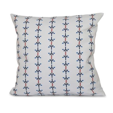 Jodhpur Stripe Print 18-inch Throw Pillow
