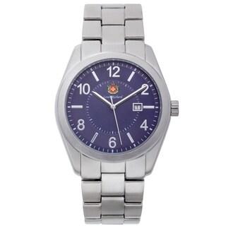 Louis Richard Carlisle Men's Blue Textured Dial Design Watch