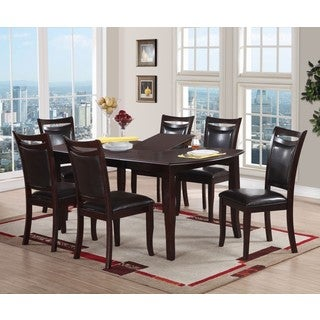 Drammen 7-Piece Dining Set in Dark Brown Finish