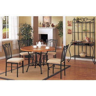 Vigevano 5 Pieces Dining Set in Oak Finish