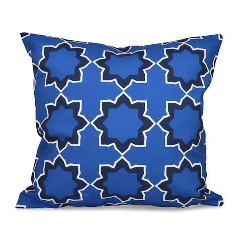 Bohemian Geometric Print 26-inch Throw Pillow