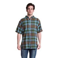 Stanley Men's Short Sleeved Overdyed Plaid Shirt