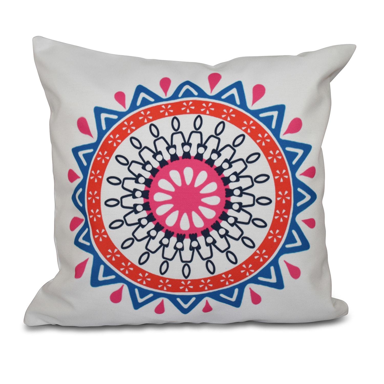 Mod Geometric Print 26-inch Throw Pillow (Teal)