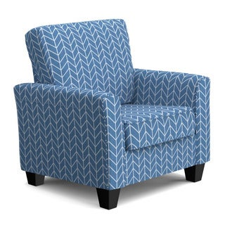 Portfolio Redmond Caribbean Blue Herringbone SoFast Chair