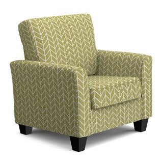 Portfolio Redmond Green Herringbone SoFast Chair