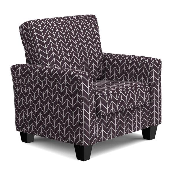 Purple Accent Chair Herringbone: Shop Handy Living Redmond Deep Purple Herringbone SoFast