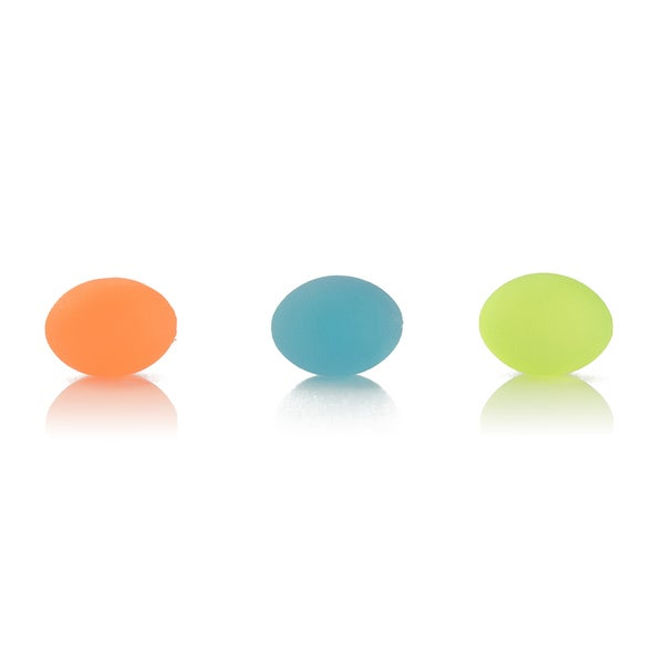 AeroMat Egg-shaped Squeeze Balls (Pack of 3)