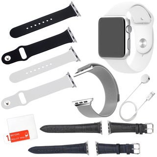 Apple Watch Sport 38mm with Screen Protector and 5 Additional Straps